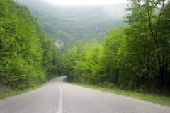 Weg aan de bergen Royalty-vrije Stock Afbeelding