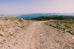 Weg aan de bergketen van Catalonië royalty-vrije stock foto