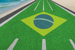 Weg aan de olympische spelen van Brazilië in Rio Stock Fotografie