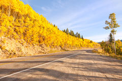 Weg aan de Pas van de Onafhankelijkheid in Colorado stock fotografie