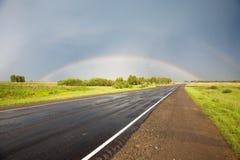 Weg aan de regenboog Stock Foto's