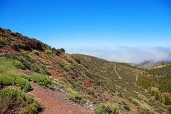 Weg aan de vulkaan van Gr Teide. Royalty-vrije Stock Afbeeldingen