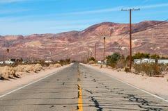 Weg aan de Woestijn Royalty-vrije Stock Foto's