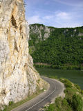 Weg aan Donau Royalty-vrije Stock Foto's