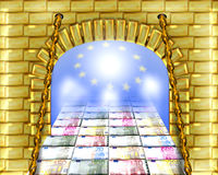 Weg aan euro Stock Foto