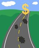 Weg aan financieel succes Royalty-vrije Stock Foto's