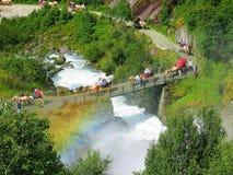 Weg aan gletsjer Briksdal Stock Afbeeldingen