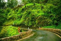 Weg aan Hana, Maui Hawaï stock afbeeldingen