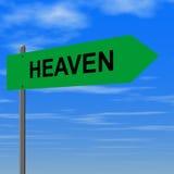 Weg aan hemel Stock Afbeelding