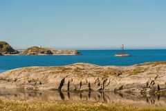 Weg aan hemel - mening bij Atlantische Weg, Noorwegen Royalty-vrije Stock Afbeeldingen