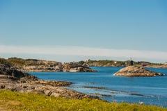 Weg aan hemel - mening bij Atlantische Weg, Noorwegen Stock Afbeelding