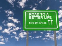 Weg aan het betere leven Stock Foto