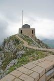 Weg aan het het bekijken platform op de Lovcen-Berg Royalty-vrije Stock Foto