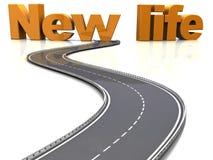 Weg aan het nieuwe leven stock illustratie