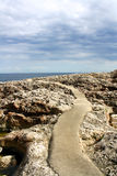 Weg aan het overzees in Mallorca, Spanje Royalty-vrije Stock Afbeelding