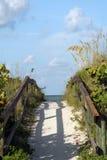 Weg aan het strand Stock Foto