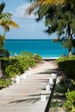 Weg aan het strand Stock Fotografie