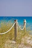 Weg aan het strand Royalty-vrije Stock Fotografie