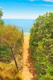 Weg aan het strand in Alghero royalty-vrije stock foto