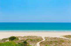 Weg aan het strand in Florida Stock Afbeelding