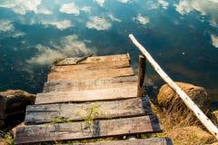 Weg aan het water Stock Foto