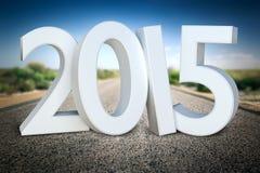 Weg aan horizon 2015 Royalty-vrije Stock Afbeelding