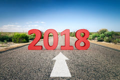 weg aan horizon 2018 Royalty-vrije Stock Afbeeldingen