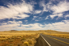 Weg aan Meteoorkrater in Winslow Arizona de V.S. Stock Afbeelding