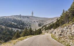 Weg aan Mont Ventoux Royalty-vrije Stock Foto's