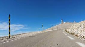 Weg aan Mont Ventoux in de Provence, Frankrijk stock footage