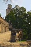 Weg aan nad Vltavou, Tsjechische Republiek van Kasteelhluboka Royalty-vrije Stock Fotografie