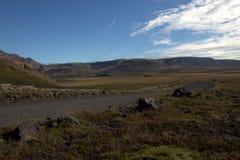 Weg aan nergens in IJsland Stock Foto