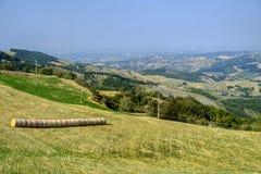 Weg aan Passo-della Cisa, van Toscanië aan Emilia Stock Foto