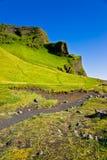 Weg aan Reynisdrangar, IJsland Royalty-vrije Stock Foto