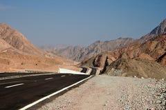 Weg aan Sinai stock foto