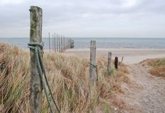 Weg aan strand Royalty-vrije Stock Foto's