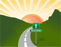 Weg aan succes Stock Foto's