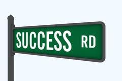 Weg aan succes vector illustratie