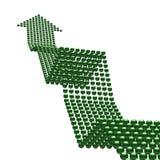 Weg aan succes (groene omhooggaand arrrow) Stock Foto's