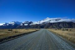 Weg aan Tasman-Vallei bij Aoraki-MT kok Stock Afbeelding