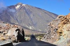 Weg aan Teide, Tenerife Stock Afbeelding