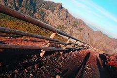 Weg aan Vesuvio Stock Foto's