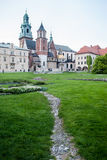 Weg aan Wawel-kasteel in Krakov Royalty-vrije Stock Foto's