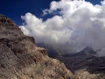 Weg Alfredo Benini in de Brenta-Dolomietbergen in Italië Stock Foto's