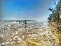 Weg allein auf Küste Stockbilder