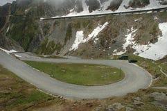 Weg in Alpen Royalty-vrije Stock Foto's