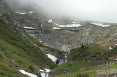 Weg in Alpen Stock Afbeelding