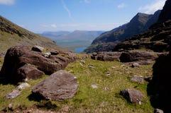 Weg auf Berg Irland Stockbild