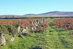 Weg auf Dartmoor Lizenzfreies Stockbild