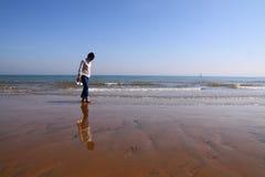 Weg auf dem Strand Stockbild